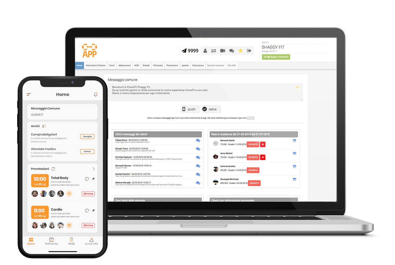 gestionale palestra e applicazione per smartphone